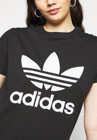 adidas Originals - TREFOIL TEE - Printtipaita - black/white - 5