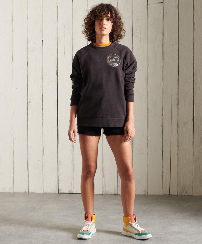 Superdry - SUPERDRY BOHEMIAN - Sweatshirt - blackbean