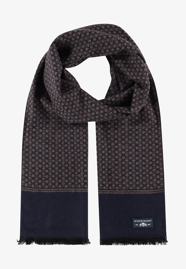 Scarf - dark-blue/dark-brown