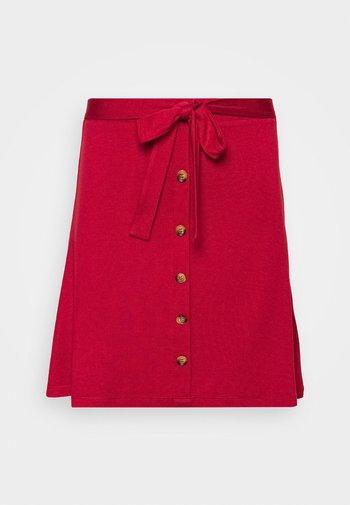 Falda acampanada - brick red