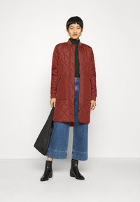 Selected Femme - SLFNATALIA QUILTED COAT - Bomber Jacket - smoked - 1