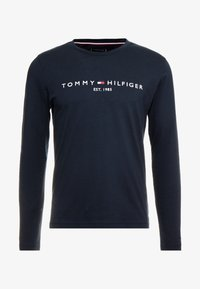 Tommy Hilfiger - LONG SLEEVE LOGO - Long sleeved top - navy - 4