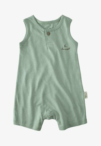 Jumpsuit - metallic green
