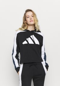 adidas Performance - BIG LOGO SET - Tracksuit - black/white - 0