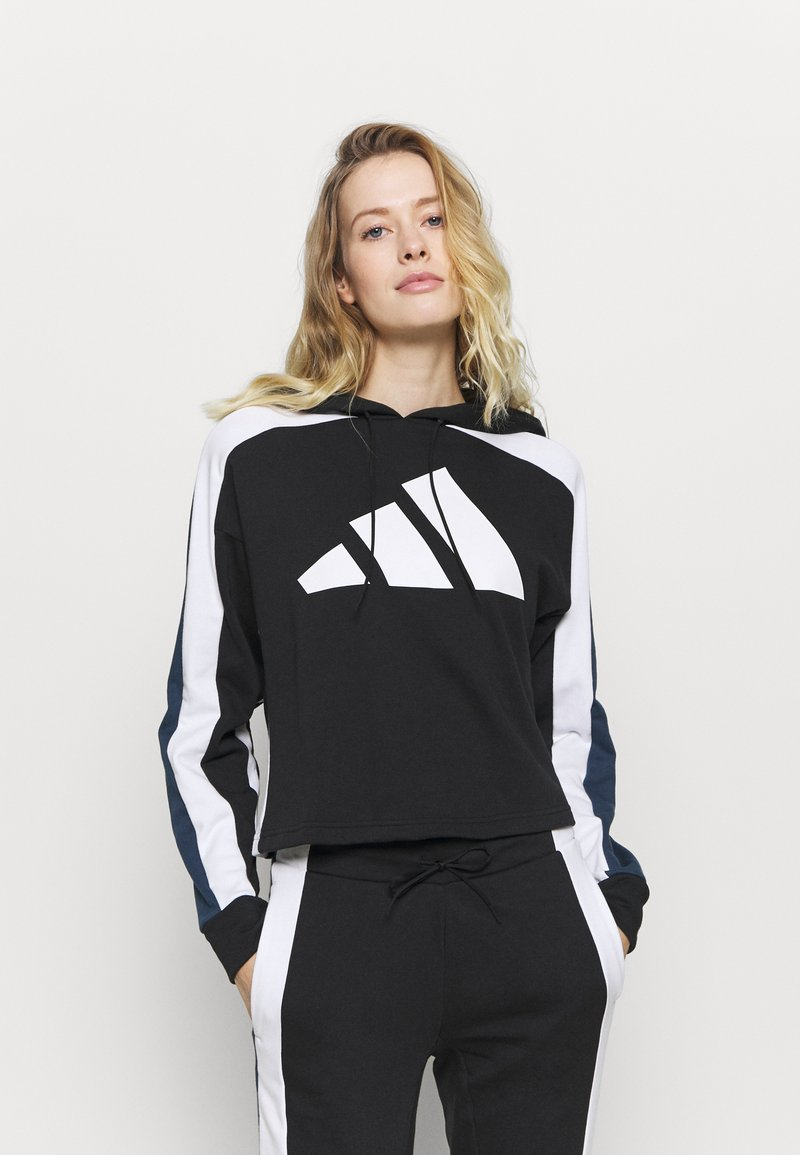 adidas Performance - BIG LOGO SET - Tracksuit - black/white