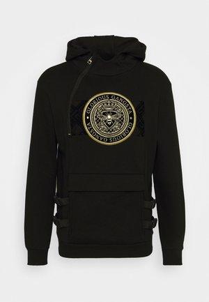 ZAIAR HOOD - Sweatshirt - jet black/gold