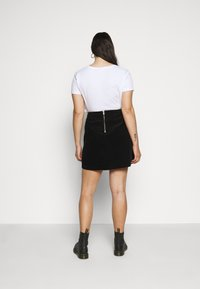 New Look Curves - ZIP SKIRT - A-line skirt - black - 2