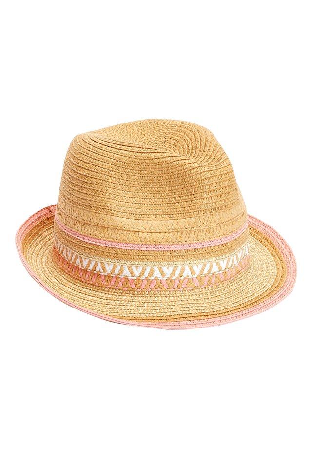 STRAW PINK TRIM TRILBY (OLDER) - Hat - beige