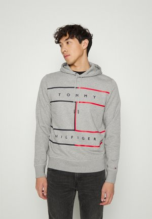 LARGE FLAG HOODY - Sweatshirt - light grey heather
