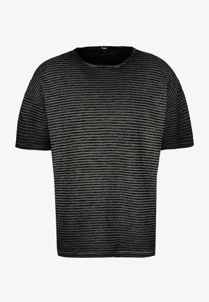 MATTEO - Print T-shirt - black/apshalt/black