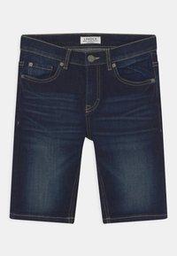 Lindex - TOM NARROW - Denim shorts - dark denim - 0