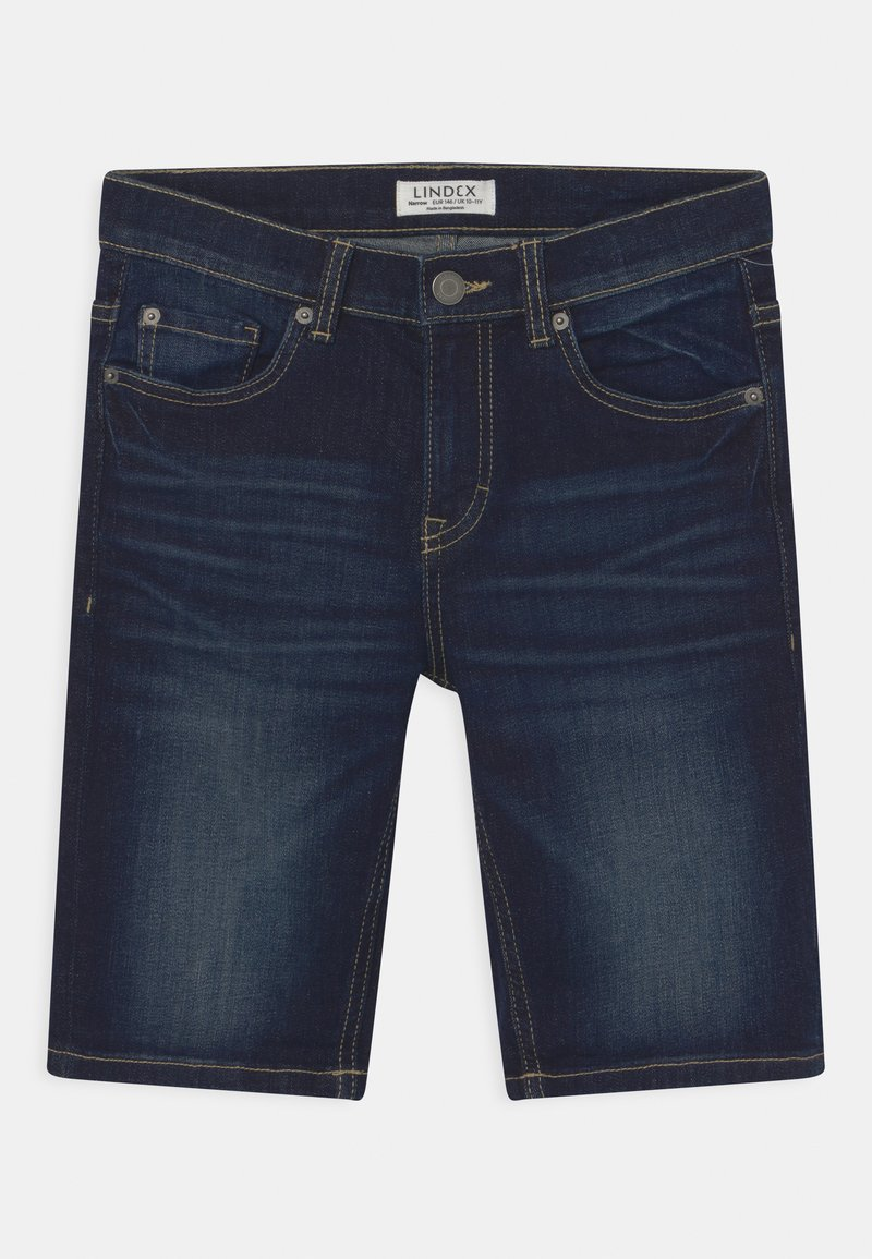 Lindex - TOM NARROW - Denim shorts - dark denim