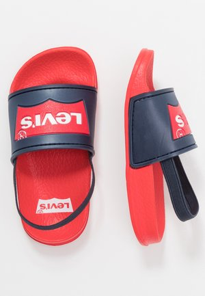 POOL MINI UNISEX - Sandalen - red/navy