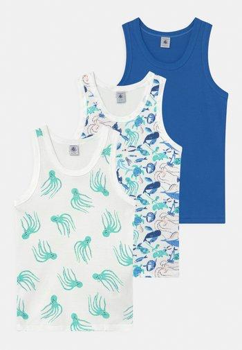 OCEAN PRINT 3 PACK  - Undershirt - white/blue