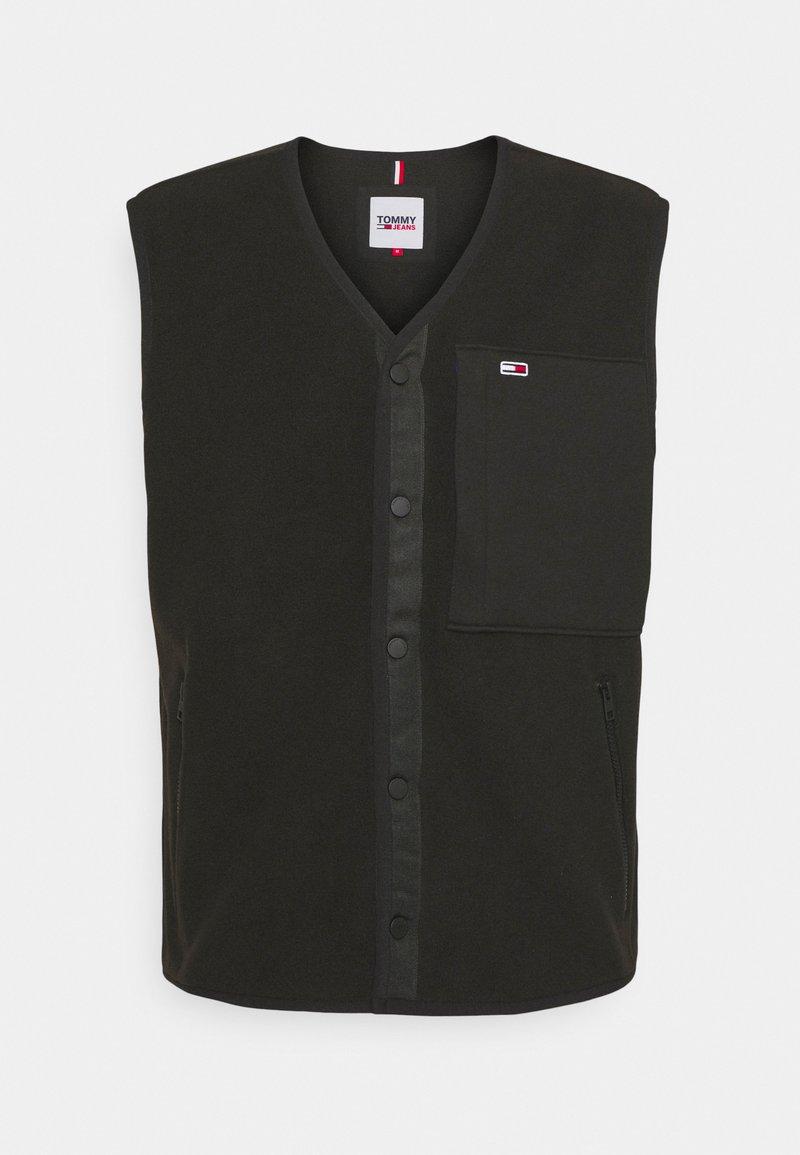 Tommy Jeans - POLAR VEST - Waistcoat - black