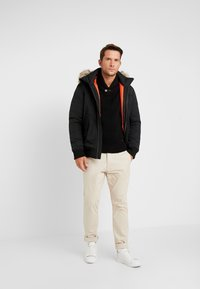 TOM TAILOR DENIM - TRIMMED BOMBER - Veste d'hiver - black - 1
