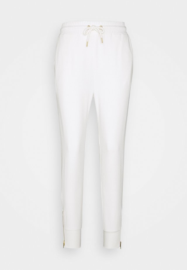 Regular fit joggers with zip detail - Tracksuit bottoms - white