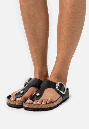 GIZEH BIG BUCKLE  - T-bar sandals - black