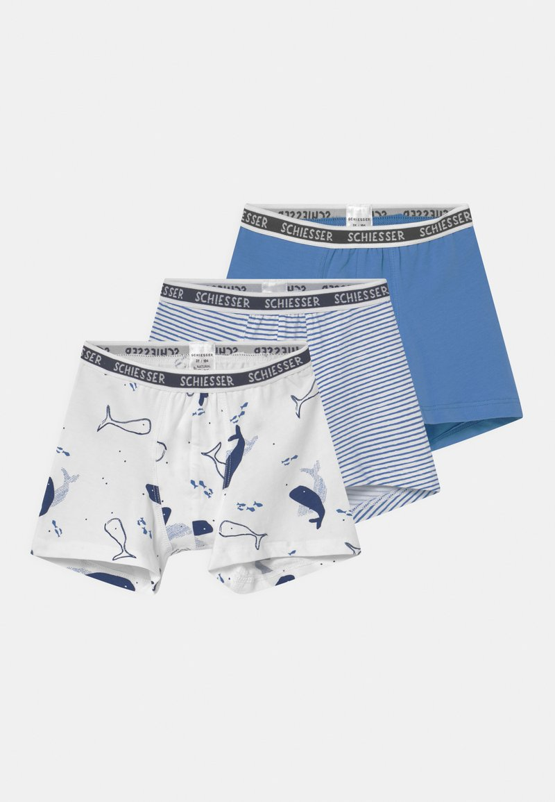 Schiesser - SHORTS 95/5 3 PACK - Pants - blue/light blue