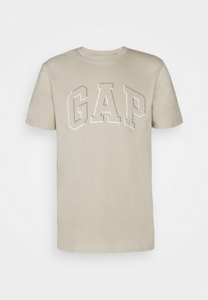 RAISED ARCH - Print T-shirt - oat beige