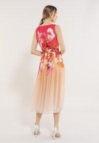 Swing - Day dress - light orange / old rose - 2