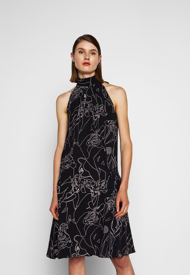 SMOCKED HIP DRESS - Denní šaty - midnight blue