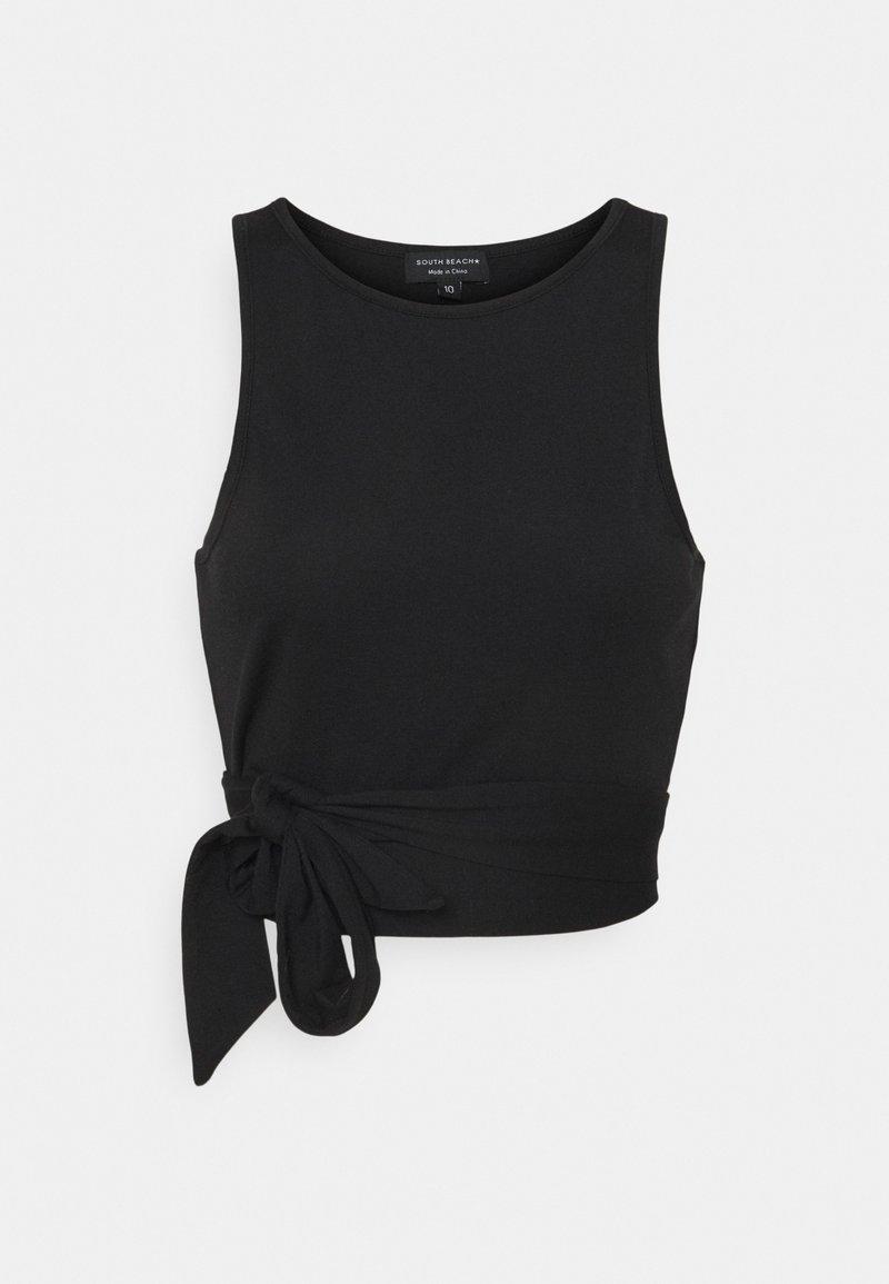 South Beach Petite - SUSTAINABLE WRAP DETAIL TANK  - Top - black