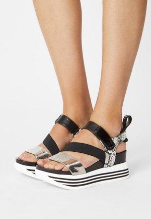 JIL - Platform sandals - black/multicolour