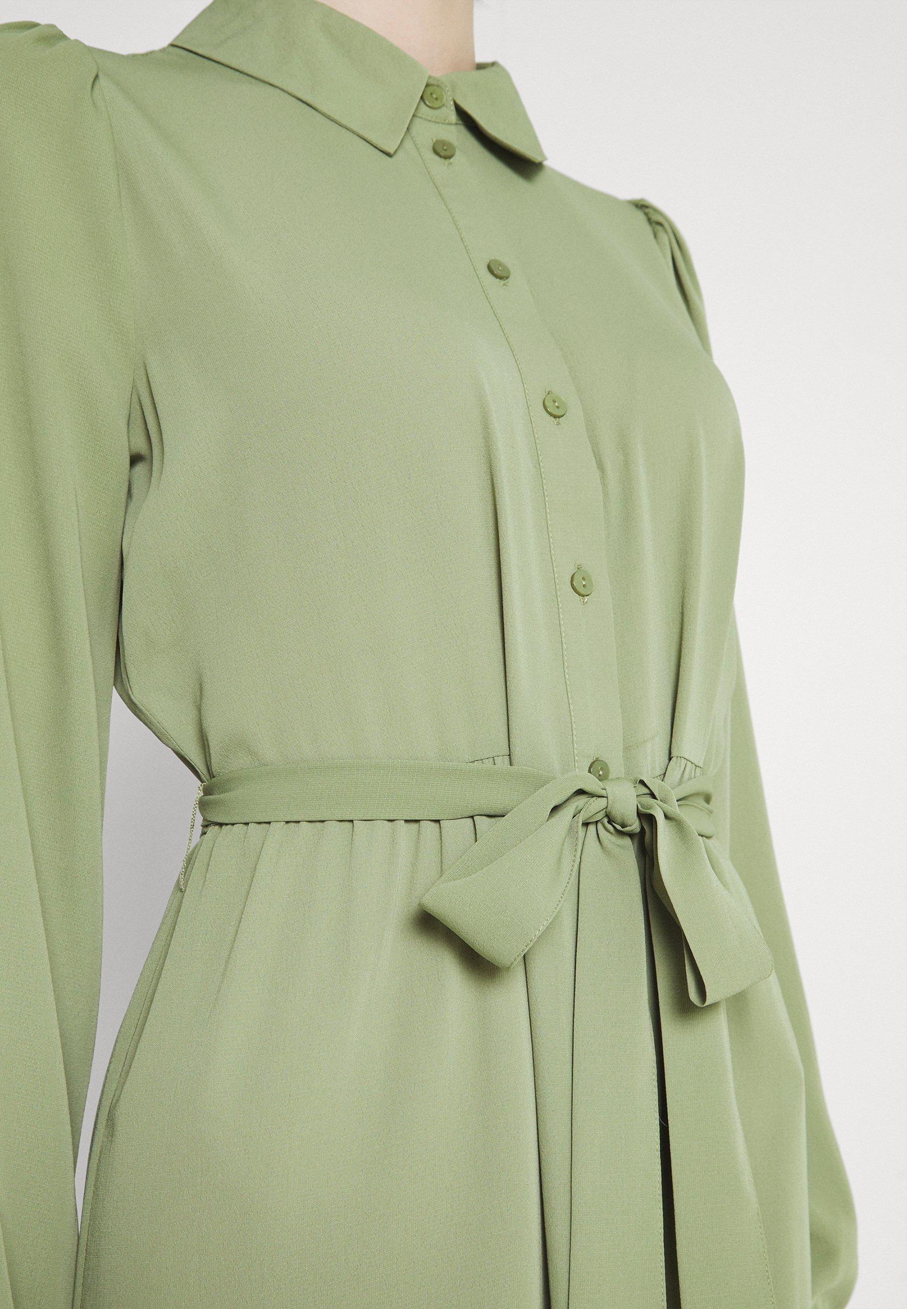 Damen VMVEGA CALF SHIRT DRESS - Blusenkleid