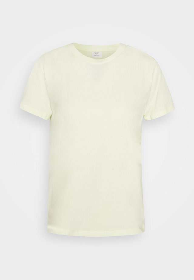 BOXY SHORT SLEEVE CREW - T-shirt basic - light yellow