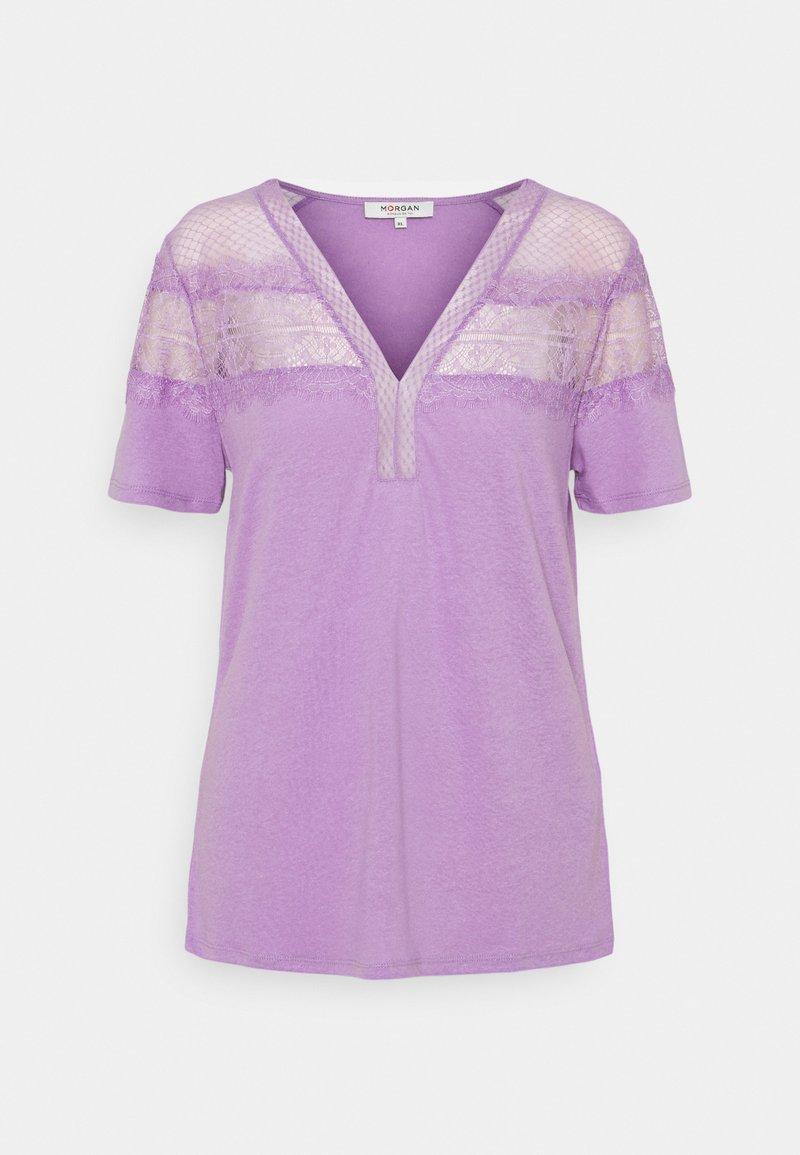 Morgan - DIETER - Jednoduché triko - lilac