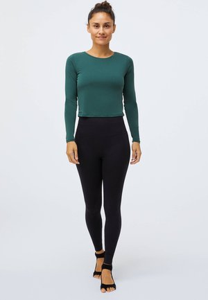 Long sleeved top - evergreen