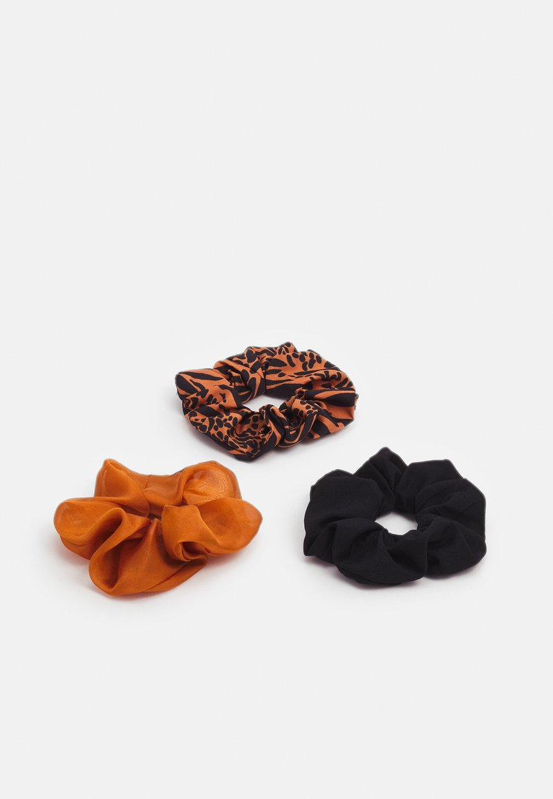 Even&Odd - 3 PACK - Hair Styling Accessory - camel/black