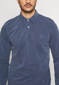 Marc O'Polo - LONG SLEEVE ALL OVER STRIPES - Polo shirt - multi/total eclipse - 5