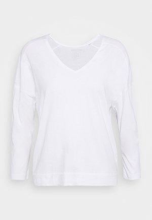 THREE QUARTER SLEEVE - Long sleeved top - white