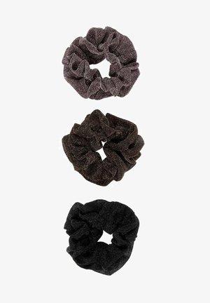 HAARGUMMI 3ER-PACK - Snood - black