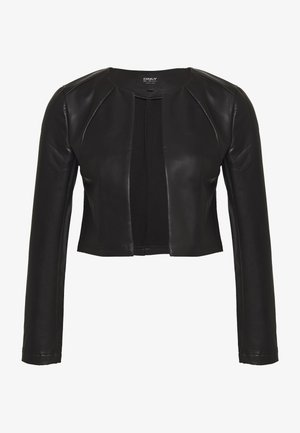 ONLDAISY BOLERO - Imitatieleren jas - black