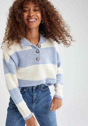 REGULAR FIT - Polo shirt - blue