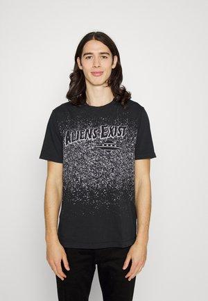 T-JUST - Print T-shirt - black