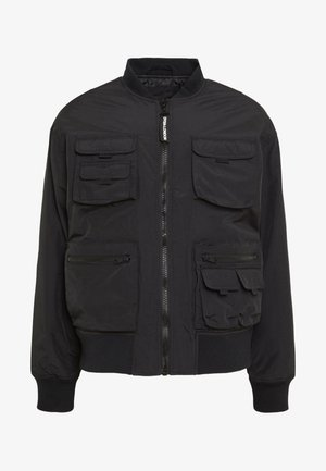 MULTI POCKET UTILITY BOMBER - Giubbotto Bomber - black