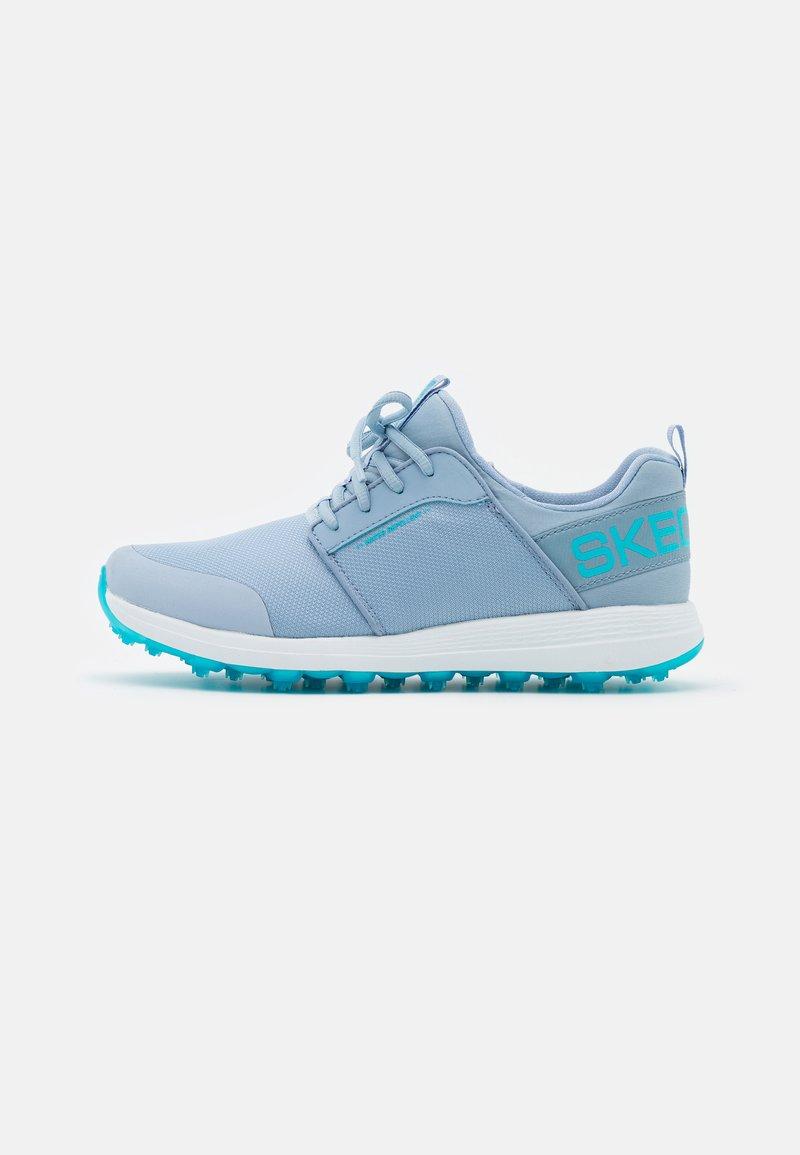 Skechers Performance - GO GOLF MAX - Golf shoes - light blue/hot melt/white