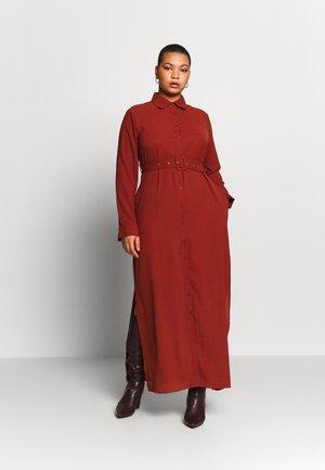BELTED PAISLEY PRINT DRESS - Maxikleid - chocolate brown
