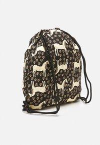 Marimekko - SMARTSACK MUSTA TAMMA BAG - Across body bag - black/beige/orange - 1