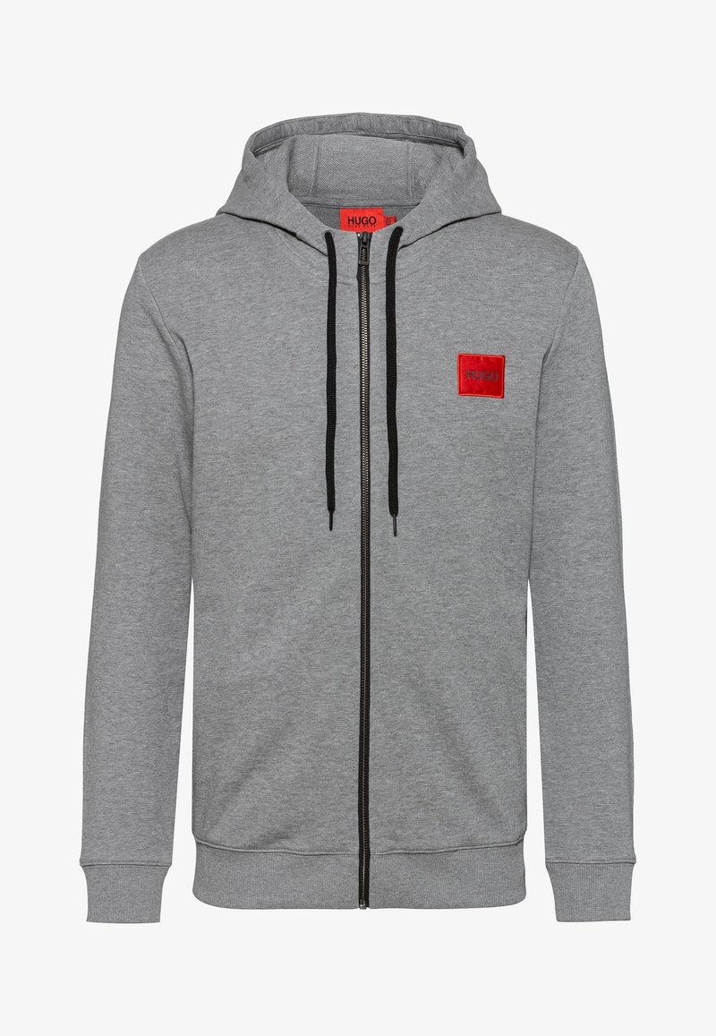 HUGO - DAPLE - veste en sweat zippée - medium grey