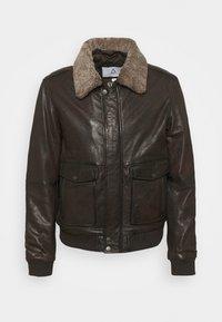 Serge Pariente - NEW PILOT - Leather jacket - brown - 6