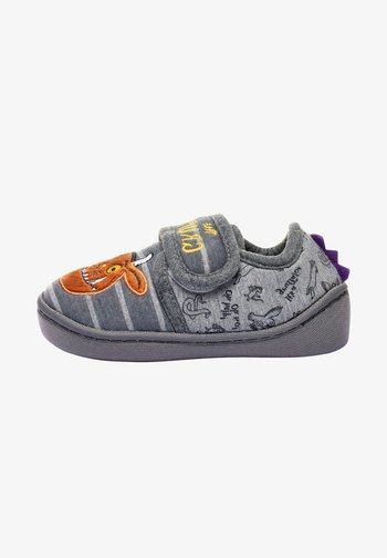 GRUFFALO STRAP TOUCH FASTEN CUPSOLE SLIPPERS - First shoes - grey