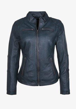 SUSAN - Leather jacket - navy