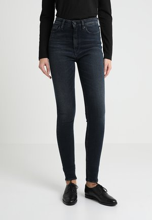 CHRISTINA HIGH - Jeansy Skinny Fit - dark black