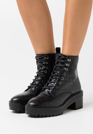 VMTESS BOOT - Platform ankle boots - black