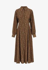 YAS - MIT LANGEN ÄRMELN YASLALLA - Shirt dress - capulet olive - 5